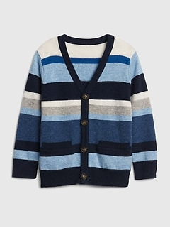 Crazy Stripe Cardigan Sweater