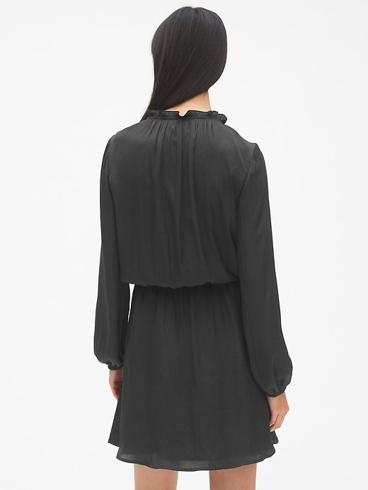 Long Sleeve Embroidered Smock Dress