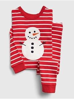 cozy snowman pj set