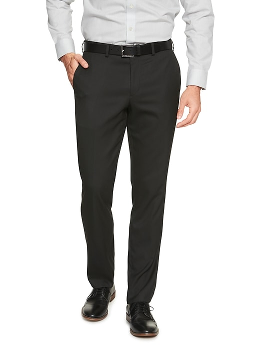 Slim-Fit Stretch Black Trouser