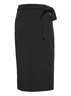 Belted Pencil Skirt with Side Slit 51e367d9ab42