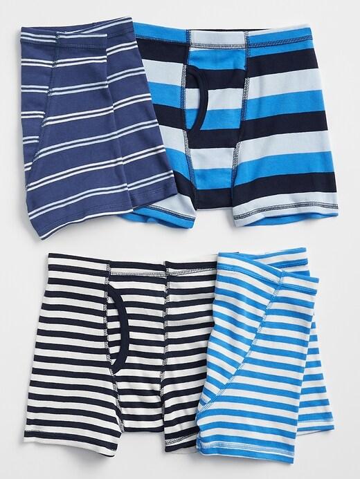 Kids Stripe Boxer Briefs (4-Pack)
