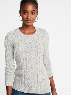 0e290fb103 Cable-Knit Crew-Neck Sweater for Women