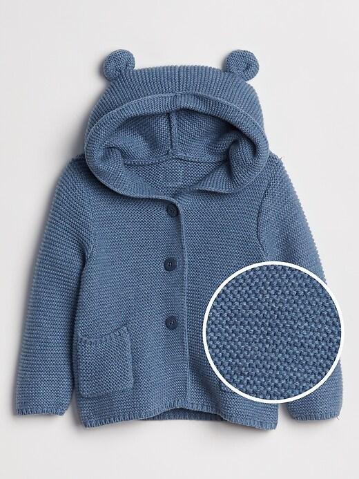 Baby Bear Garter Cardigan