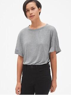 b1a13cf935f Drapey Flutter Sleeve T-Shirt