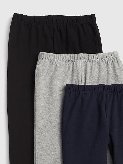 Kids Capri Leggings in Stretch Jersey (3-Pack)