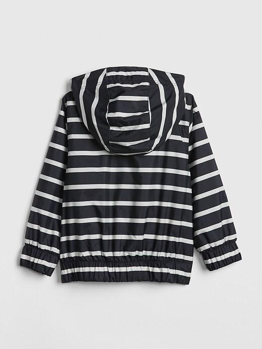 Veste anorak rayée doublée en jersey (tout-petit)