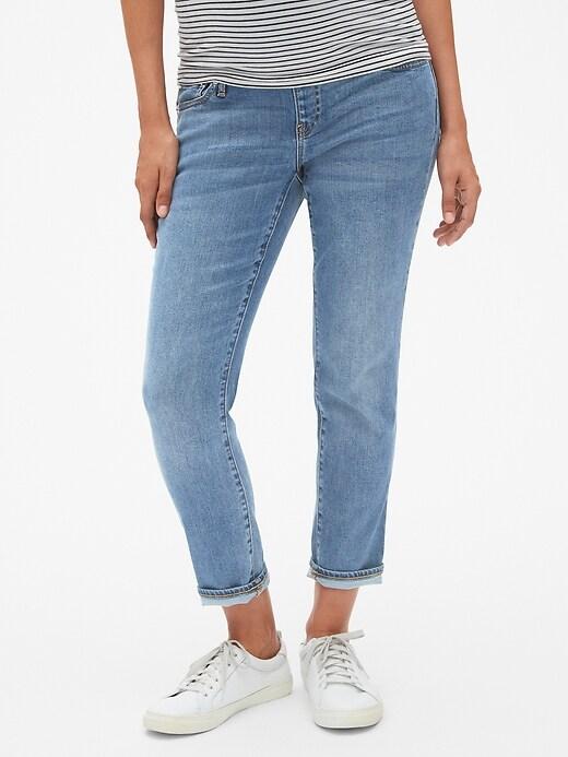 Maternity Soft Wear Full Panel Girlfriend Jeans