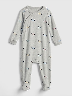 ef1e80639dd8a First Favorite Dog Footed One-Piece