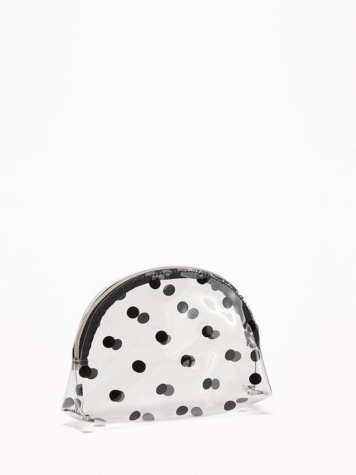 Clear Polka-Dot Cosmetic Bag for Women