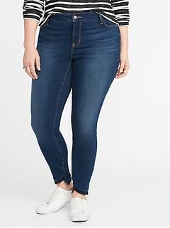 da1afba82a546 High-Rise Built-In Warm Rockstar Super Skinny Plus-Size Jeans