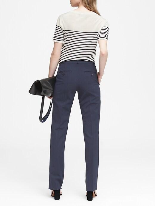 Pantalon en laine italienne lavable à la machine, coupe Logan