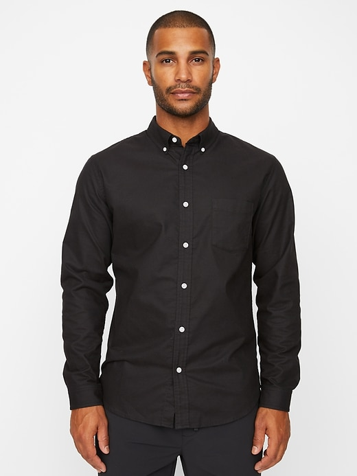 Tech Oxford Shirt in Athletic Slim Fit