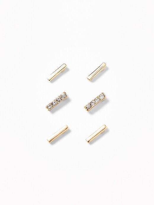 Bar-Stud Earrings 3-Pack For Women