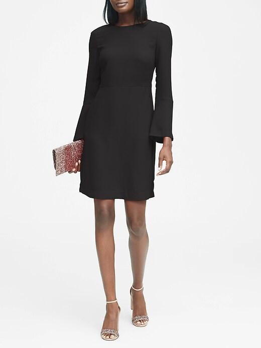 Petite Solid Tie-Back Dress