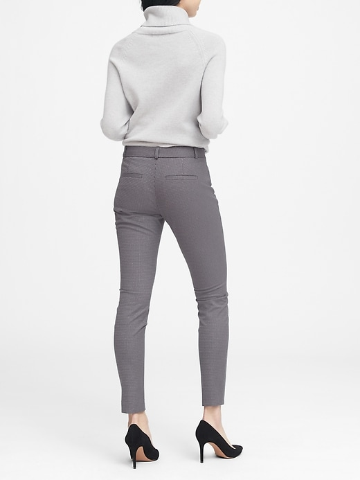 Sloan Skinny-Fit Sparkle Pinstripe Pant