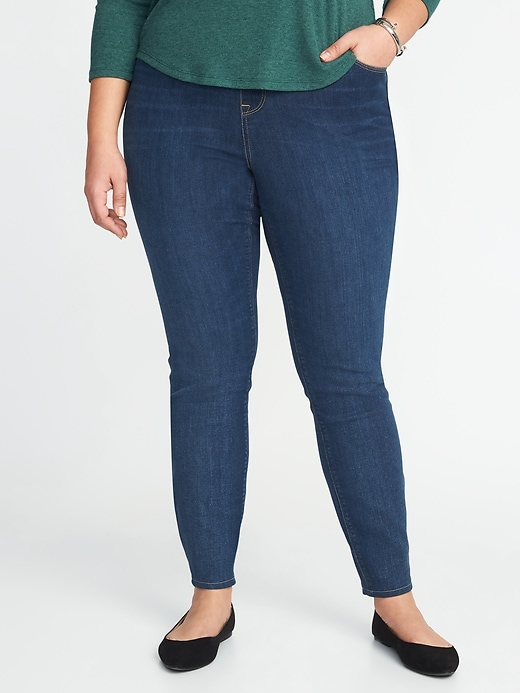 High-Waisted Plus-Size Rockstar Pull-On Jeggings