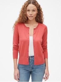 d558c840a4 Crewneck Cardigan Sweater in Merino Wool
