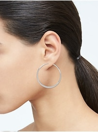 Basic Flat Hoop Earrings