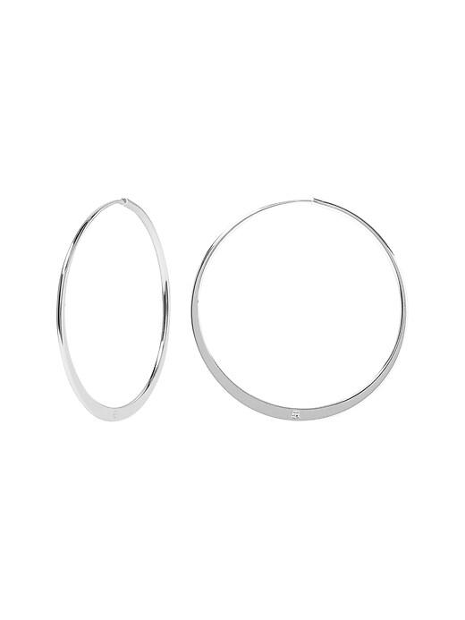 Basic Flat Hoop Earrings
