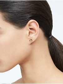 Everyday Stud Earrings with 10K Gold