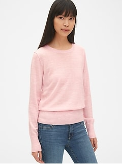 8625f87beeb Crewneck Pullover Sweater in Merino Wool