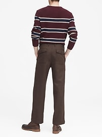 JAPAN EXCLUSIVE Relaxed Italian Wool-Blend Utility Pant