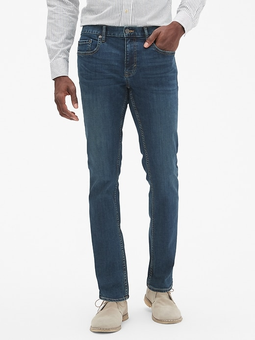 Techmotion Slim-Fit Stretch Dark Wash Stretch Jean