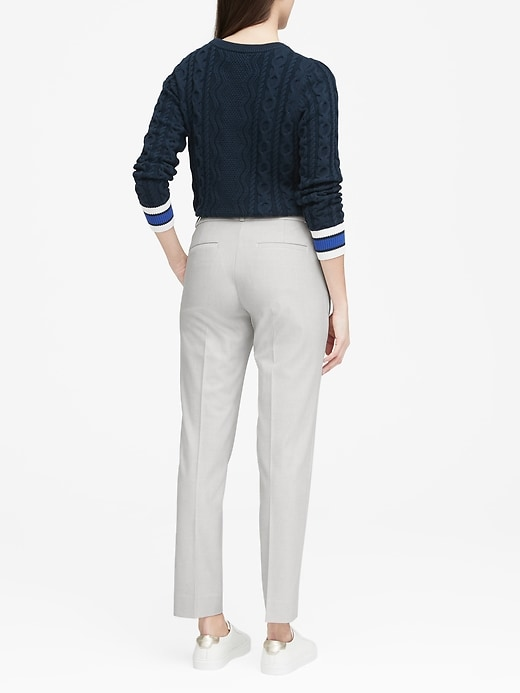 Ryan Slim Straight-Fit Birdseye Pant
