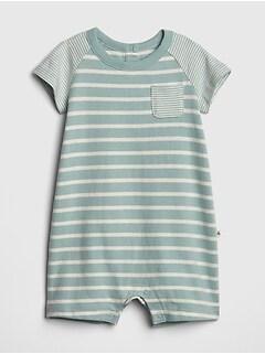 77e99e8a77 Organic Cotton Stripe Shorty One-Piece