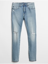 Slim Fit Jeans in Distressed with GapFlex