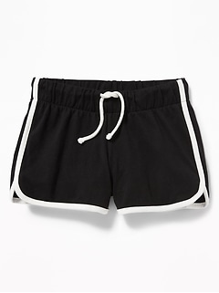 84914e7461 Jersey Dolphin-Hem Cheer Shorts for Girls