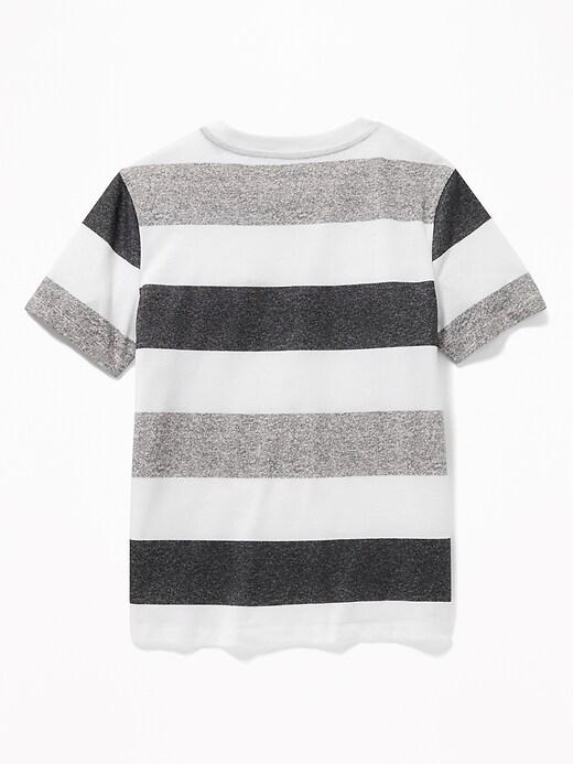 Bold-Stripe Softest Tee for Boys