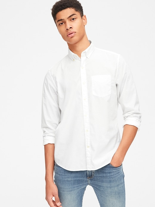 Lived-In Stretch Poplin Shirt in Untucked Fit