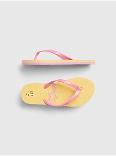 454d4670e861 Kids Graphic Flip Flops