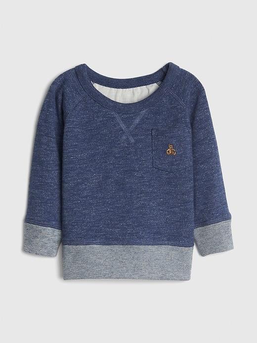 Baby Marled Sweatshirt In Fleece