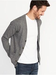 5c7169e8217 Button-Front V-Neck Cardigan for Men