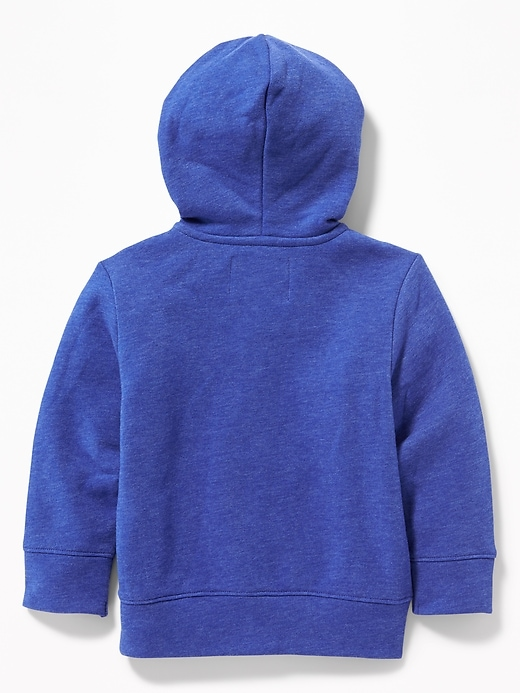 Logo-Graphic Zip Hoodie for Toddler Boys