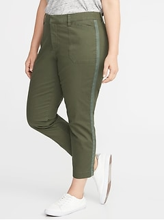 94e49f5b48a Mid-Rise Secret-Slim Pockets Plus-Size Pixie Utility Chinos