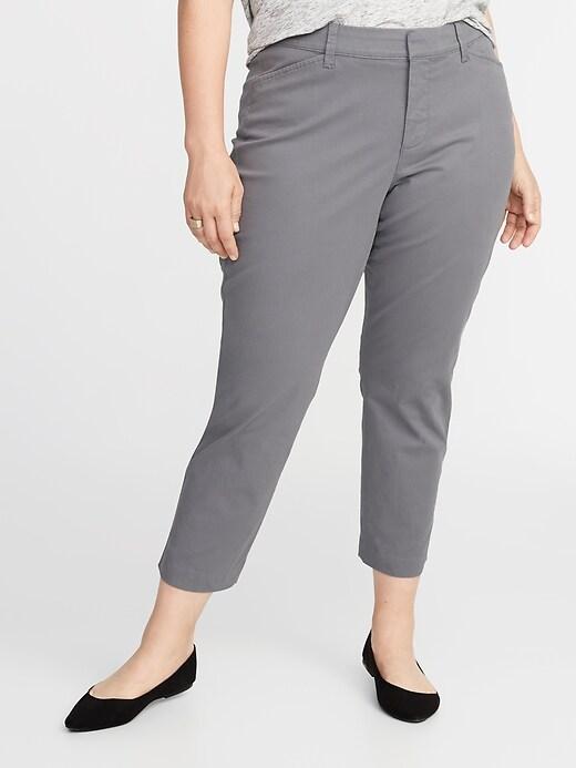 Pantalon Pixie à poches Secret amincissant à taille moyenne, taille Plus