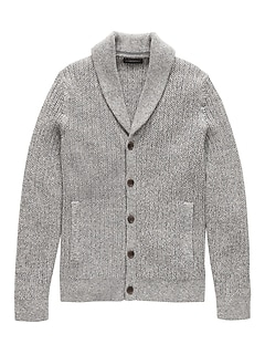 6d8536b444 SUPIMA® Cotton Shawl-Collar Cardigan Sweater