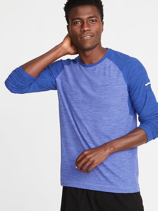 Ultra-Soft Breathe ON Go-Dry Built-In Flex Raglan Tee for Men