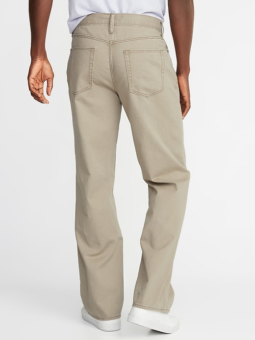 Loose Twill Five-Pocket Pants For Men