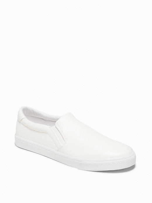 Mixed-Fabric Slip-Ons for Men