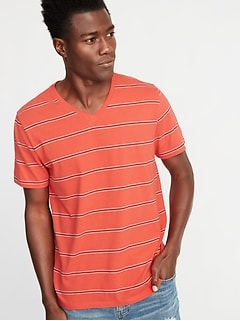 67ac31b3f5 Soft-Washed Striped V-Neck Tee for Men