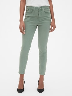 High Rise True Skinny Ankle Jeans in Color 930aed50472c