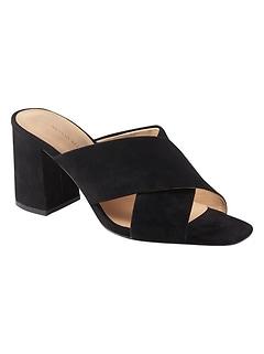 67d196c9fe60 heels. Criss-Cross Mule Sandal