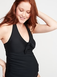 Maternity Halter Tankini Swim Top