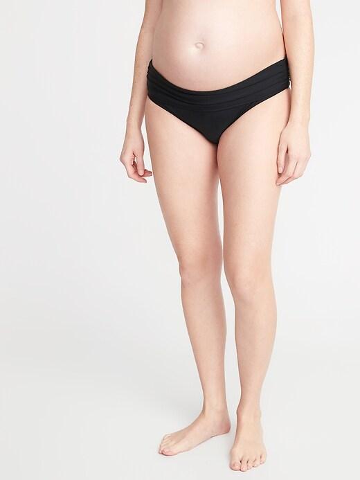 Maternity Fold-Over Waist Swim Bottoms