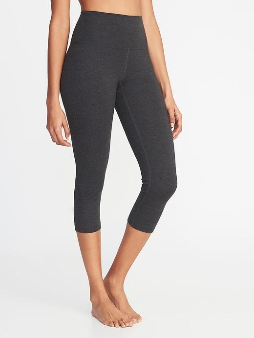 Pantalon trois quarts de yoga à taille haute pour femme